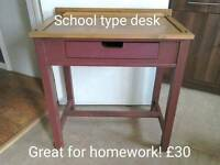School desk with drawer