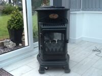 Provence portable calor gas heater real flame cost £268 perfect condition