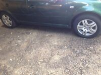 Genuine VW GOLF Alloy Wheels 4 tyres come used but plenty tread left