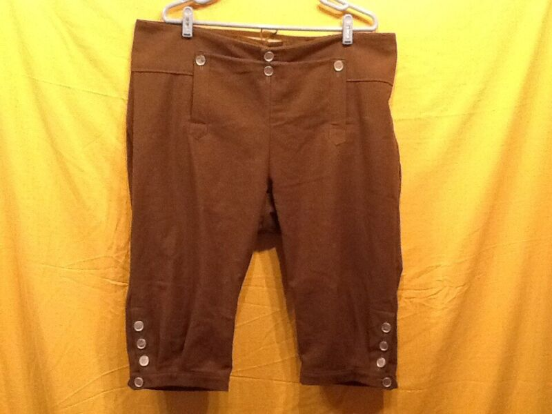 Knee Breeches, Size 36 Dark Brown - Rendezvous, Mountain Man, Colonial, Pirate