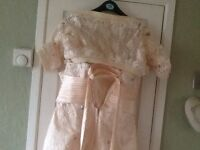 Wedding out fit worn once in cream 12 to 14