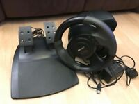Microsoft Sidewinder Force Feedback Steering Wheel And Peddles for PC. Perfect Condition