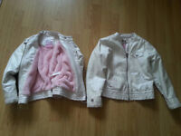 Faux fur lined jackets age 5-6yrs and 6-7yrs