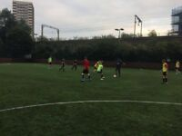 Casual friendly 7/8-a-side football every Monday in Mile End. 2 players needed for tomorrow