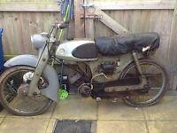 Suzuki sportsman 1960 scooter moped barn find 50cc