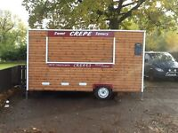 Food trailer crepe truck for sale good profit for little outlay