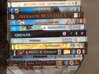 Selection of DVDs and VHS videos