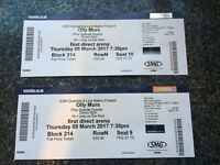 2 x Olly Murs tickets - Leeds Arena - Thursday 9th March
