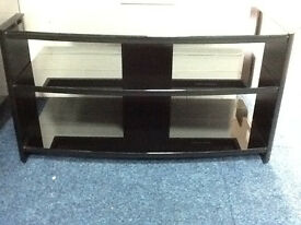 80CM BLACK GLASS TELEVISION STAND