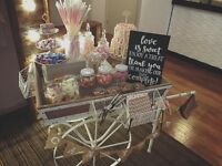 BRISTOL HIRE: Wedding Sweets Vintage Candy Bar Cart