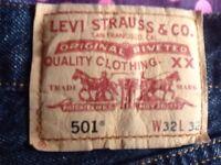 Levis 501 jeans genuine. Levi Strauss