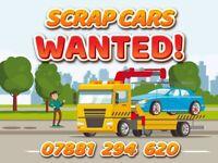 SCRAP CARS WANTED !! SCRAP CARS WEST LONDON !!