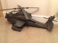 HM Armed Forces Apache Attack Helicopter in green. Perfect condition. Collectible child's toy