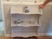 HAND PAINTED HARDWOOD WALL SHELVES