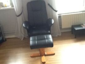 Black chair and stool
