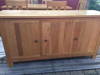 Large solid oak sideboard