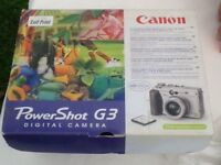 Canon Powershot G3 plus lots of extras!