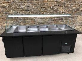black chiller counter