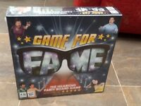'Game For Fame' Hilarious party board game. New still in wrappings.
