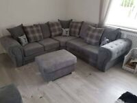 LARGE VERONA CHESTERFIELD ARMS CORNER/3+2 SEATER SOFA IN KINGSTON FABRIC | FINANCE AVAILABLE