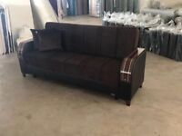 SAME DAY DELIVER NOW SUPERB TURKISH SOFA BED WITH STORAGE BRAND NEW WE DO SAME DAY EXPRESS DELIVERY