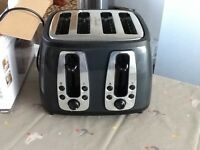 Russell Hobbs four slice toaster grey