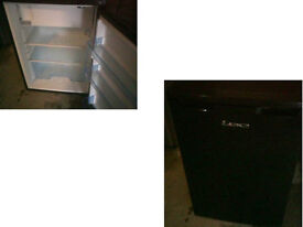 BLACK LEC UNDER COUNTER FRIDGE WITH SMALL FREEZER COMPARTMENT GOOD WORKING ORDER ALSO SEEN WORKING