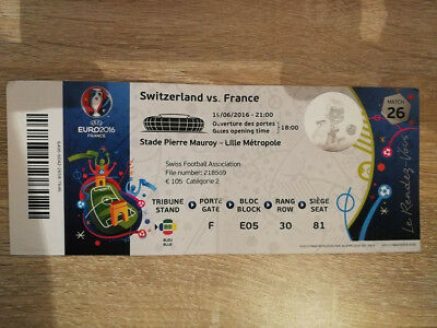 TICKET EURO 2016 : SUISSE - FRANCE MATCH 26