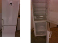ZANUSSI FRIDGE FREEZER 66.5 INCHES HIGH (169cms) x 22 INCHES WIDE (55cms) PLEASE RING ONLY