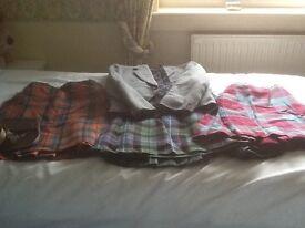Kilts, choice of 3 , and sizes. Jacket and sporran.