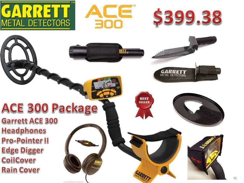 Garrett ACE 300 Metal Detector w/ Pro-Pointer II Pinpointer & Edge Digger