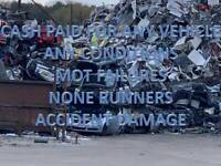 SCRAP CAR REMOVAL UNWANTED SCRAP CARS VEHICLE NONE RUNNERS MOT FAILURES WEST BROMWICH