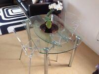 Habitat Folding Glass Dining Table