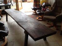 Heavy Table, 10 ft long