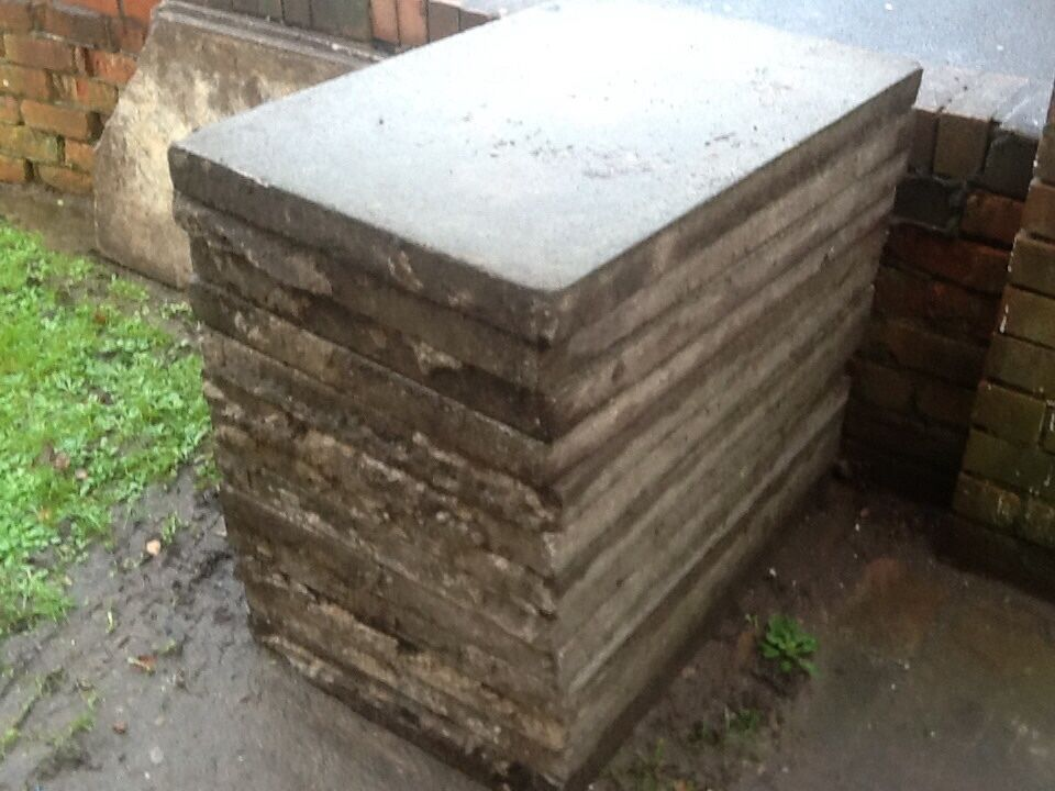 13 3x2 Reclaimed Concrete Paving Flags Shed Base Patio