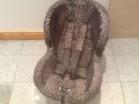 Leopard print design limited edition Maxi Cosi Priori group 1 car seat for 9kg upto 18kg(9mths-4yrs)