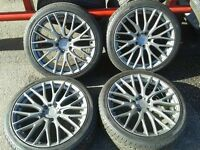 "ADVANCE1 18"" ALLOYS & 225/40/18 TYRES. 5X112PCD VW AUDI SEAT SKODA MERCEDES"