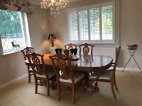 Dining Table & 6 Louis Chairs
