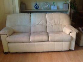 2 x Cream three seater G Plan sofa's