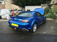 Mazda RX8 winning blue, street ported and induction kit 231