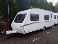 2007 Abbey Vogue 540 6 berth caravan FIXED BUNK BEDS, Awning, VGC BARGAIN !