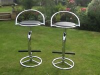 Bar Stools Chrome and Leather