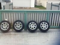 Core racing rims with tires