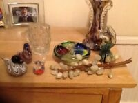 Collection of glassware and marble