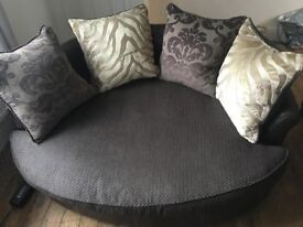 Sofa and snuggle chair immaculate