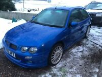 Rare MG ZR 3dr (160 Top of the Range) 1.8 VVC in Trophy Blue with the multi-spoke alloys