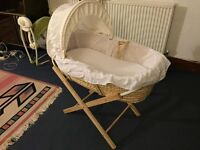 Moses Basket and Stand (or just the stand or just the basket)