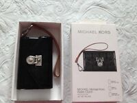 Genuine Michael kors phone /wallet clutch with strap fits iPhone 3GS,4,4s -£20