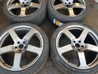 "22"" GENUINE RINSPEED ALLOY WHEELS / NEW TYRES - RANGE ROVER"