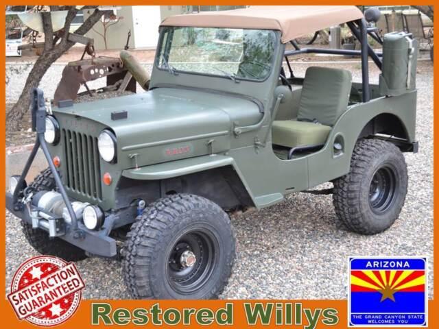 Willys : Other CJ3B Classic Willys CJ V6 High Hood Vintage 4x4 Military Type Resto Offroad Arizona
